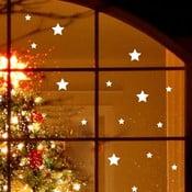 Elektorstatická vánoční samolepka Fanastick Bright White Stars