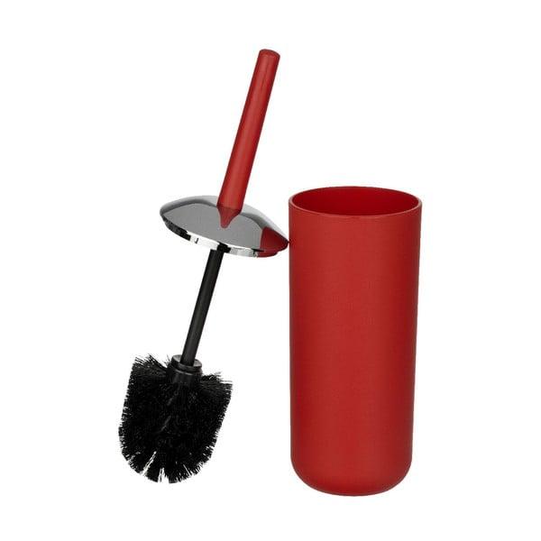 Červený toaletní kartáč Wenko Brasil Red