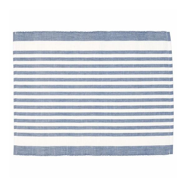 Niebieska mata stołowa w paski Green Gate Alice, 35x45 cm