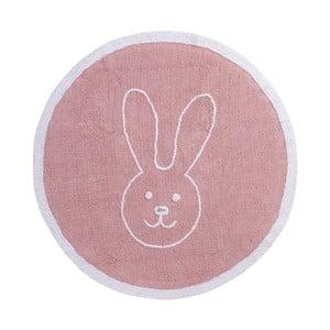 Růžový bavlněný koberec Happy Decor Kids Bunny, ⌀140cm