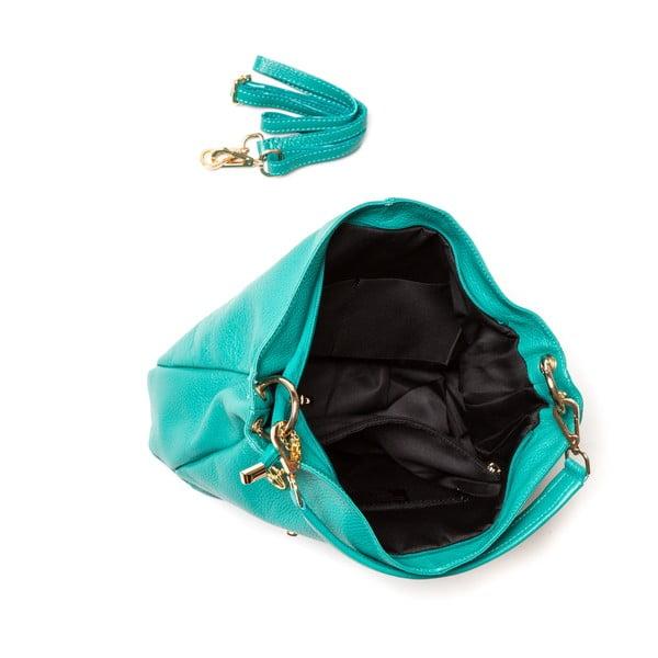 Kožená kabelka Fila, tyrkysová