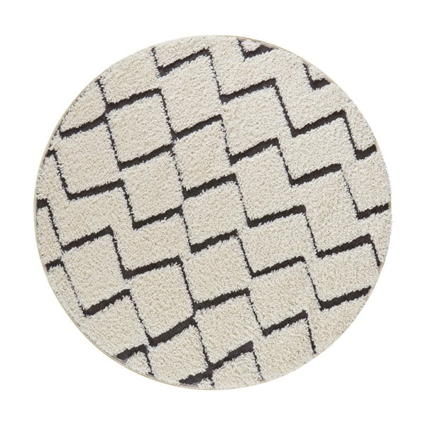 Béžovo-černý koberec Mint Rugs Handira,⌀160cm