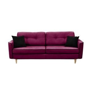 Canapea extensibilă cu 3 locuri Mazzini Sofas Ivy, violet