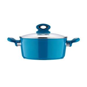 Hrnec s pokličkou Fix Line 24 cm, tmavě modrá