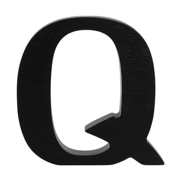 Černé dřevěné písmeno Typoland Q