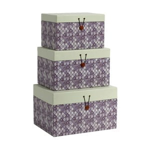Set 3 boxů Diamond Purple