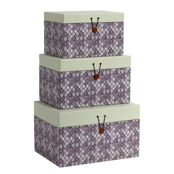 Set 3 boxů Diamond Purple