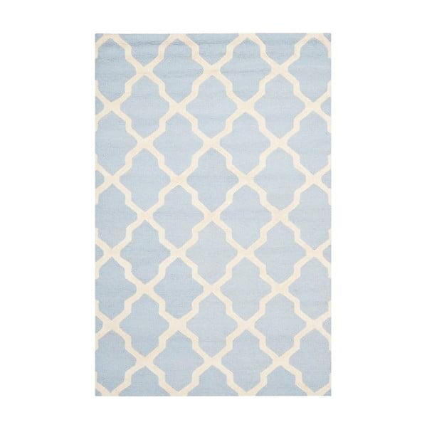 Vlněný koberec Ava Baby Blue, 182x274 cm
