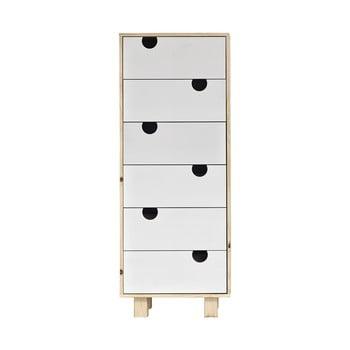 Comodă cu șase sertare Karup Design House Natural/White de la Karup Design