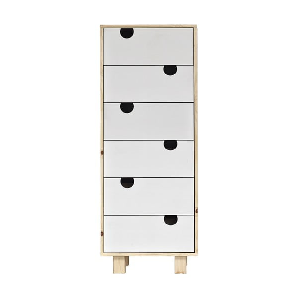 Komoda z 6 szufladami Karup Design House Natural/White