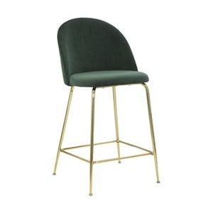 Set 2 scaune de bar Mauro Ferretti Luxury, verde