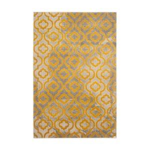 Žlutý koberec Webtappeti Evergreen,92x152cm