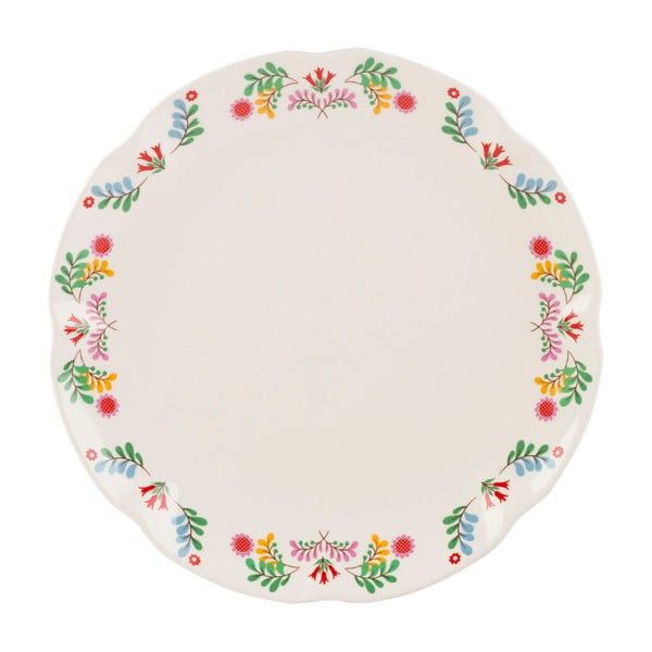Porcelánový talíř se slavnostním motivem Creative Tops, ⌀27 cm