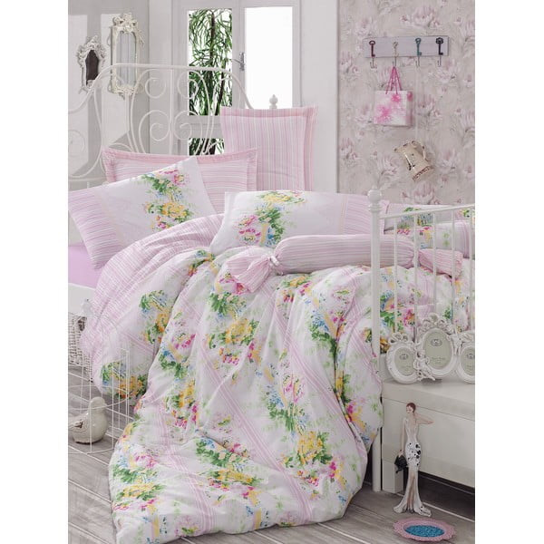 Růžový přehoz přes postel Love Colors Sarah, 200 x 240 cm