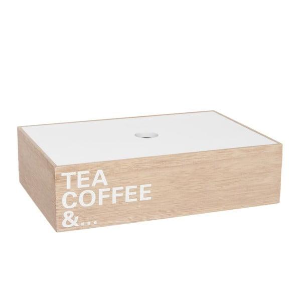 Krabička na čaj Tea Coffe And..., 24x16x6 cm