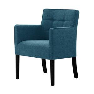 Tyrkysová židle s černými nohami z bukového dřeva Ted Lapidus Maison Freesia