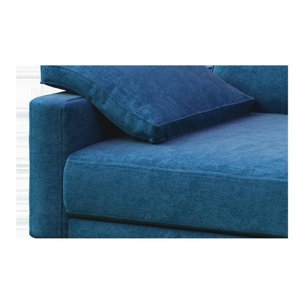 Modrá dvoumístná pohovka s dřevěnými nohami MESONICA Musso Regular