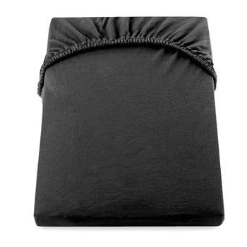 Cearșaf de pat DecoKing Amber Collection, 200-220 x 200 cm, negru de la DecoKing