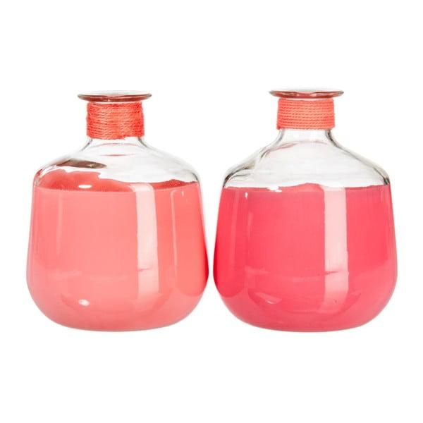 Set váz Glass Pink, 2 ks