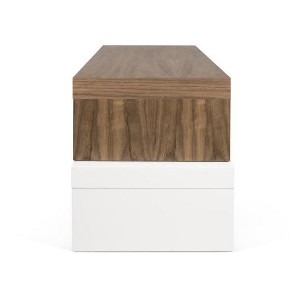 Bílý variabilní stolek TemaHome Cliff Walnut