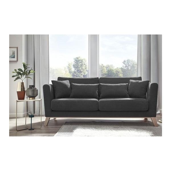 Ciemnoszara sofa 3-osobowa Bobochic Paris Doblo
