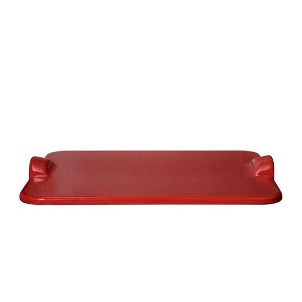 Tác na pizzu Emile Henry 30x34 cm, červený