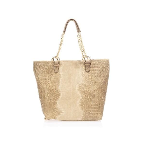 Kožená kabelka Luisina, taupe