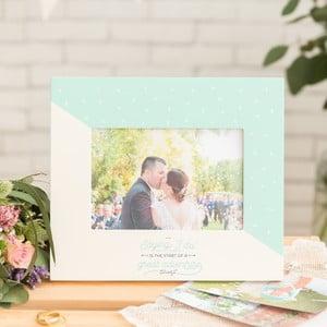 Dřevěný rámeček na svatební fotku Mr. Wonderful I do, profotografii10x15cm