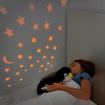 Jucărie de pluș cu proiector LED InnovaGoods Penguin imagine