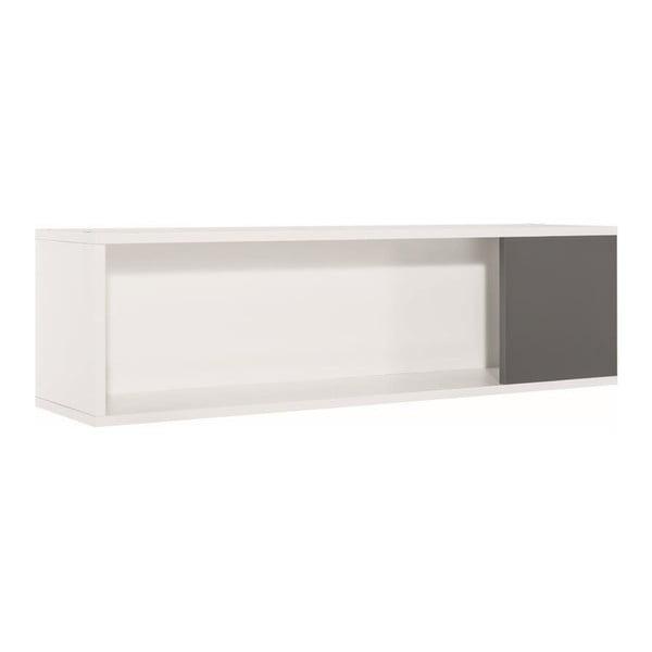 Concept fehér-szürke fali polc - Vox
