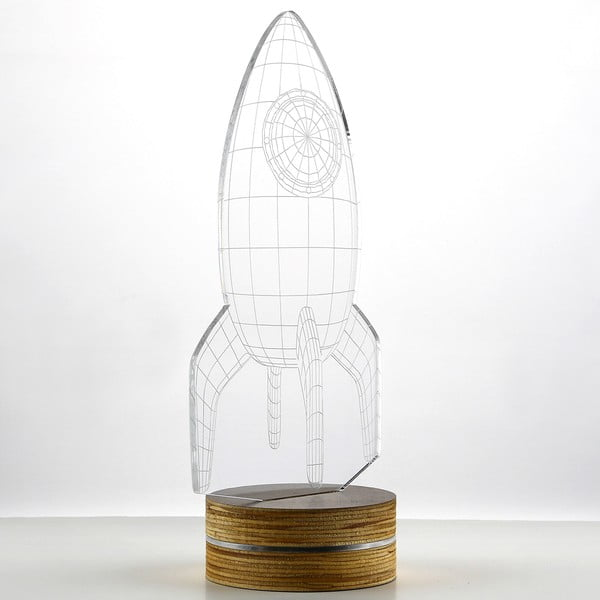 3D stolní lampa Rocket