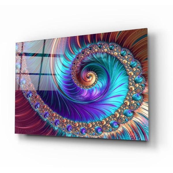 Peacock üvegezett kép - Insigne