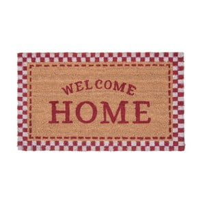 Rohožka s detaily v červené barvě Clayre&Eef Doormat, 75 x 45 cm