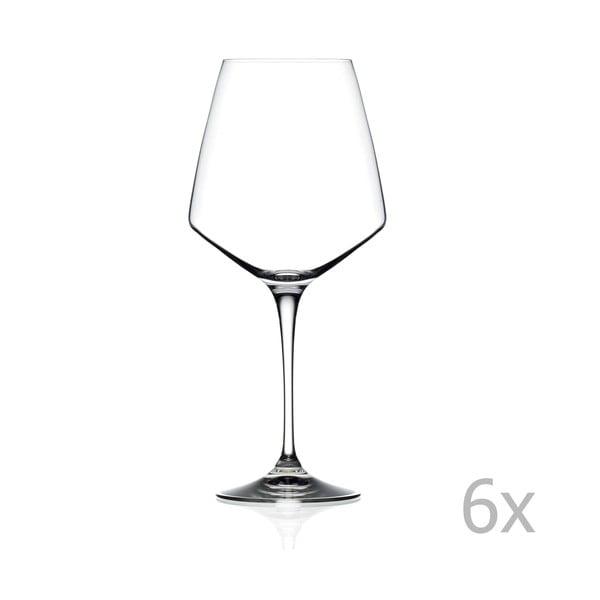 Alberta 6 db-os borospohár készlet, 790 ml - RCR Cristalleria Italiana