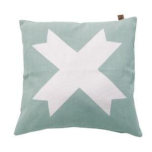 Světle modrý polštář OVERSEAS Live Laugh Love,45x45cm