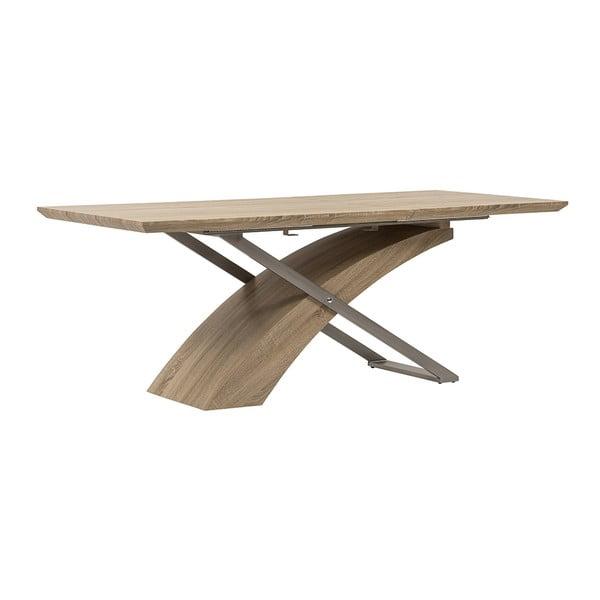 Rozkládací jídelní stůl Level, 160-200 cm, dub