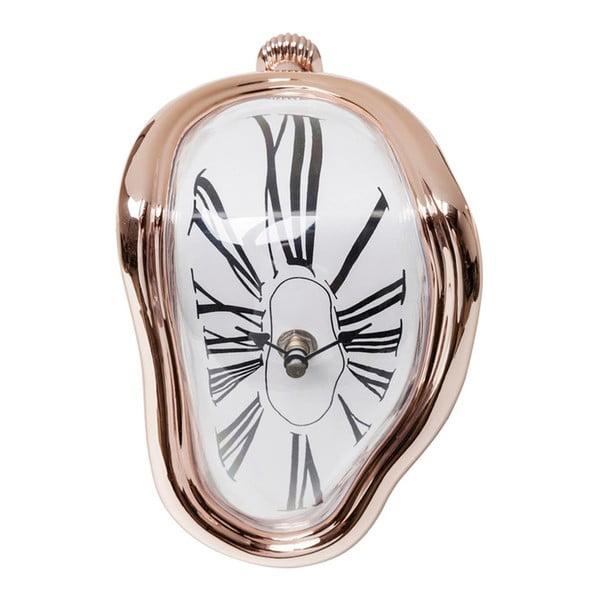 Stolové hodiny vo farbe ružového zlata Kare Design Flow