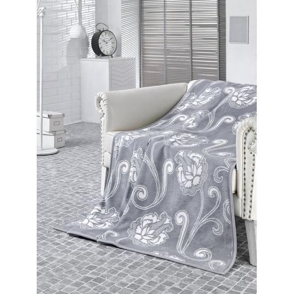 Deka Floral Grey, 180x220 cm