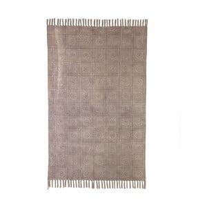 Béžový bavlněný koberec Oreste Luchetta Yantra, 195x115cm