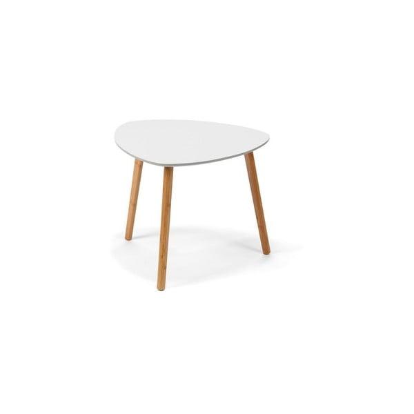 Biały stolik z nogami w naturalnej barwie loomi.design Viby