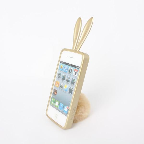 Rabito obal na iPhone4/4S Bling Bling, zlatý