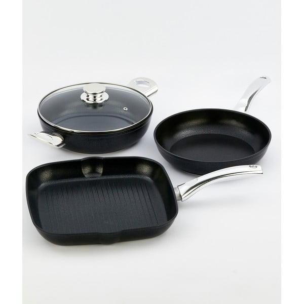 4dílný set nádobí s nerezovou rukojetí Bisetti Black Diamond