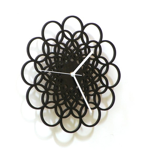 Dřevěné hodiny Rings, 29 cm