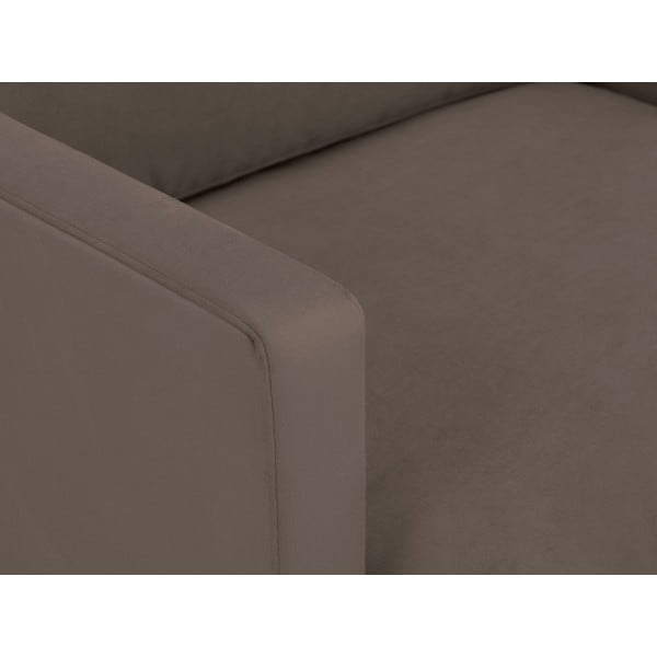 Hnědé křeslo s podnožím v černé barvě Windsor & Co Sofas Jupiter