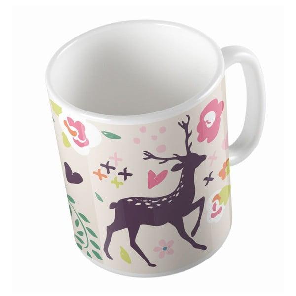 Keramický hrnek Deer And Bird, 330 ml
