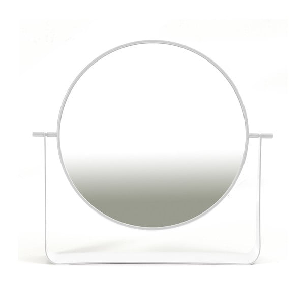 Bílé otočné stolní zrcadlo HARTÔ, Ø 38 cm