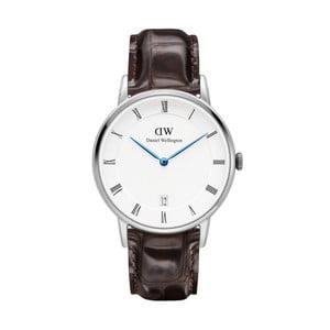Dámské hodinky s černým páskem Daniel Wellington York Silver, ⌀34mm