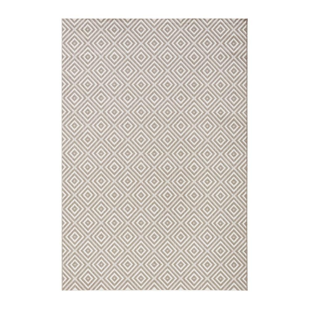Šedý koberec vhodný do exteriéru Bougari Karo, 140x200cm