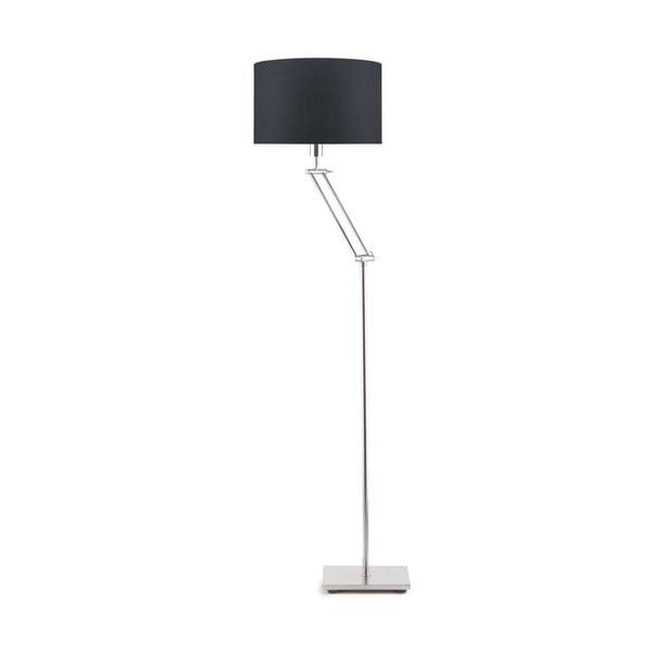Šedá volně stojící lampa s tmavě šedým stínidlem Citylights Dublin