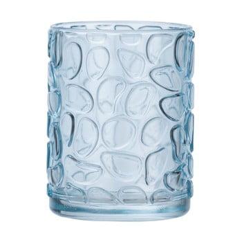 Suport sticlă pentru periuțe de dinți Wenko Vetro Foglia, albastru deschis imagine